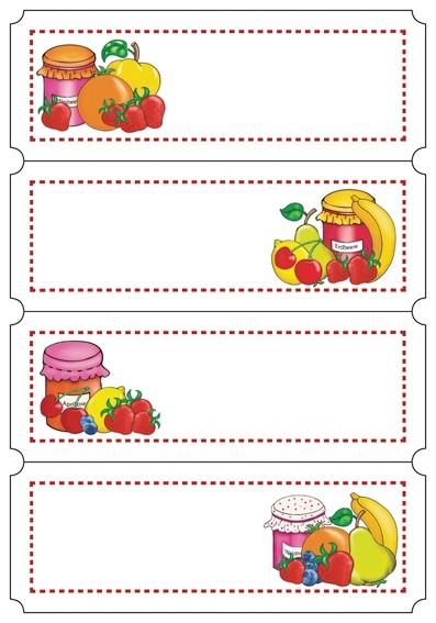 HERMA 3644 10x Küchenetiketten Fruchtauswahl