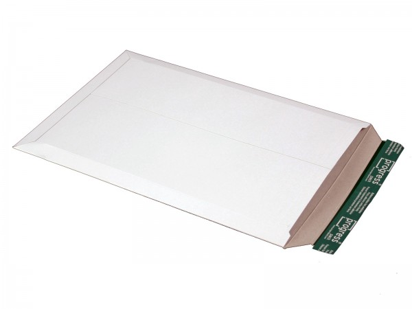 455 x 321 x -32 mm Versandtasche aus Vollpappe (weiß)