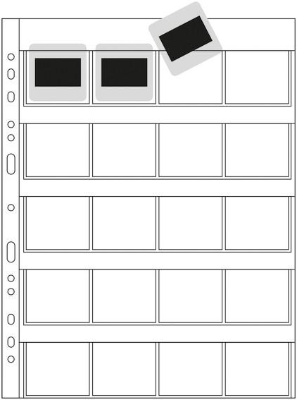 HERMA 7699 Diahüllen für Kleinbild-Dias, Folie klar/matt 100 Hül