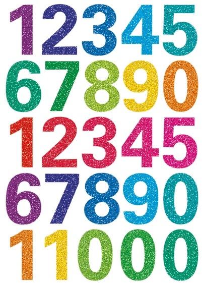 HERMA 3279 10x Sticker MAGIC Zahlen, glittery