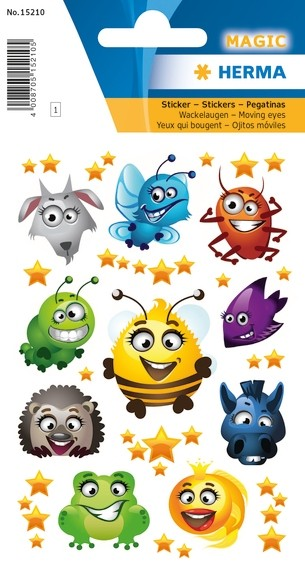 HERMA 15210 10x Sticker MAGIC Funny Faces, Wackelaugen