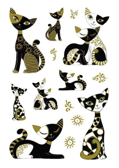 HERMA 3176 10x Sticker MAGIC Goldkatzen, Stone