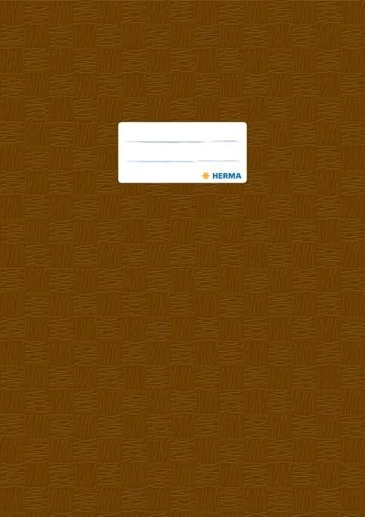 HERMA 7447 2500x Heftschoner PP A4 gedeckt/braun
