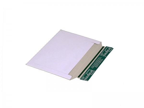 249 x 175 mm Versandtasche aus Vollpappe Querformat (weiß)
