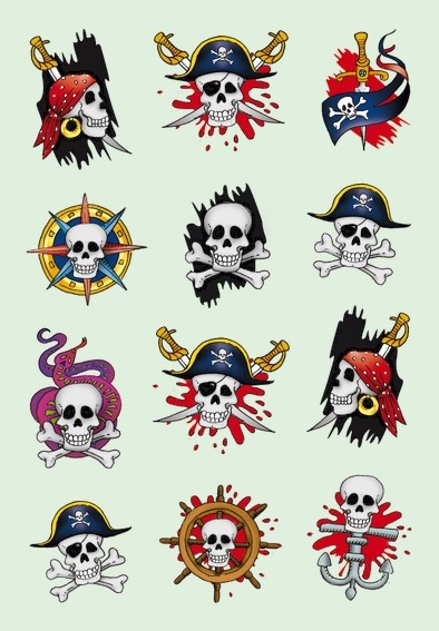 HERMA 3448 10x Sticker DECOR Piraten I