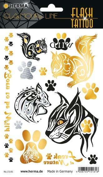 HERMA 15181 5x FLASH Tattoo Wildlife