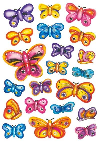HERMA 3441 10x Sticker DECOR Design Schmetterlinge