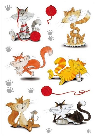 HERMA 3357 10x Sticker DECOR Lustige Katzen, beglimmert