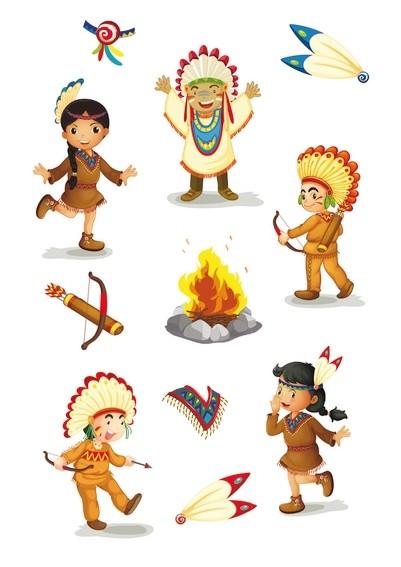 HERMA 3093 10x Sticker MAGIC Indianerkinder, Stone