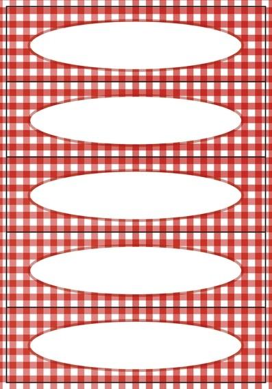 HERMA 3639 10x Küchenetiketten Vichy- Karo rot