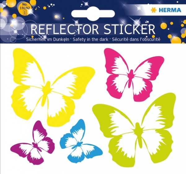 HERMA 19192 5x Reflektorsticker Schmetterling