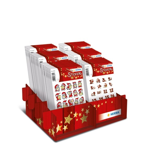 HERMA 15252 Display Sticker DECOR Adventskalenderzahlen