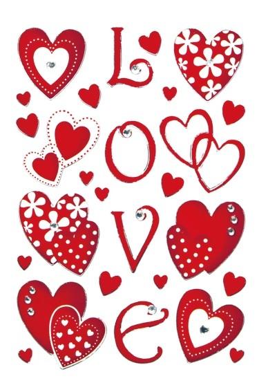 HERMA 6287 10x Sticker MAGIC Love, Jewel
