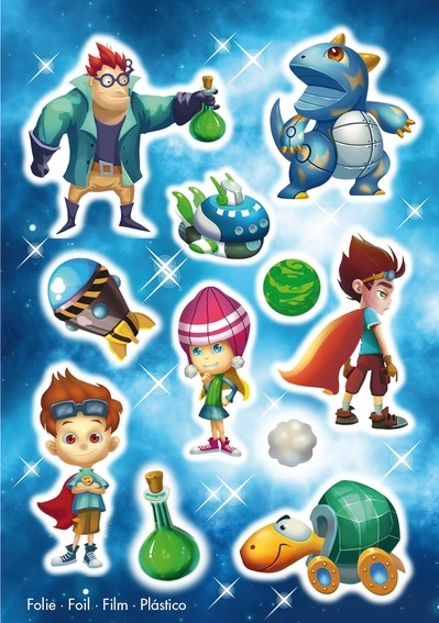 HERMA 15149 10x Sticker MAGIC Superhelden, Folie