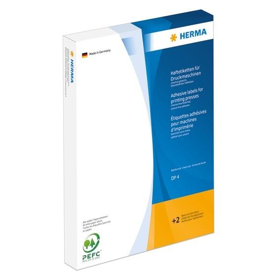 HERMA 4523 Haftetiketten für Druckmaschinen DP4 24x51 mm weiß Pa