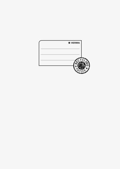 HERMA 5528 10x Heftschoner Papier A4 hellgrau