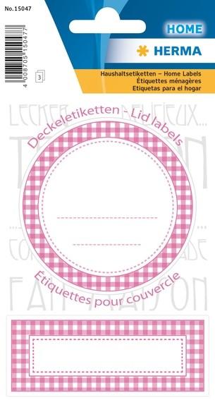 HERMA 15047 10x Sticker HOME Deckeletiketten Ø 70 rosa