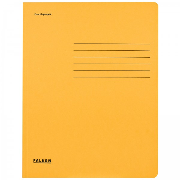 Einschlagmappe DIN A4 aus Manilakarton Gelb