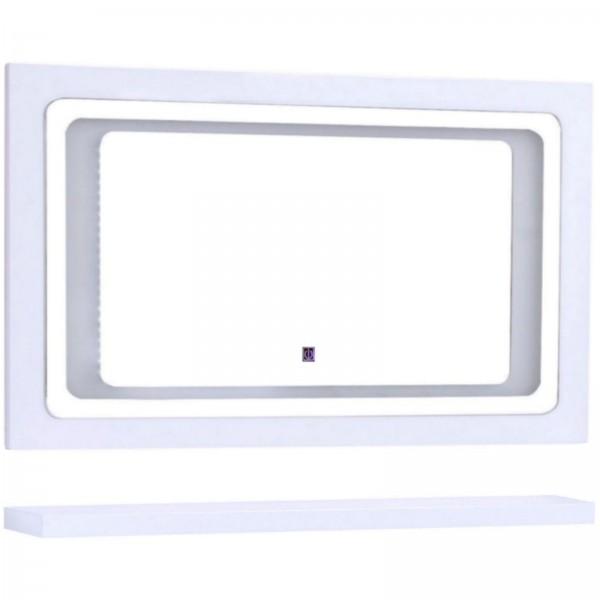 Midori Badmöbel Set Spiegel LED Touch Weiß Hochglanz 120 cm