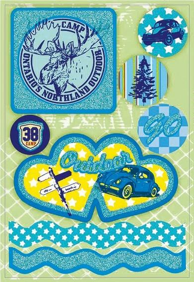 HERMA 3667 10x Sticker MAGIC Kanada Feeling, Glittery