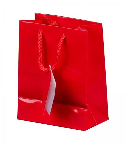 Geschenktüte in Rot Hochglanz 114 x 64 x 146 mm