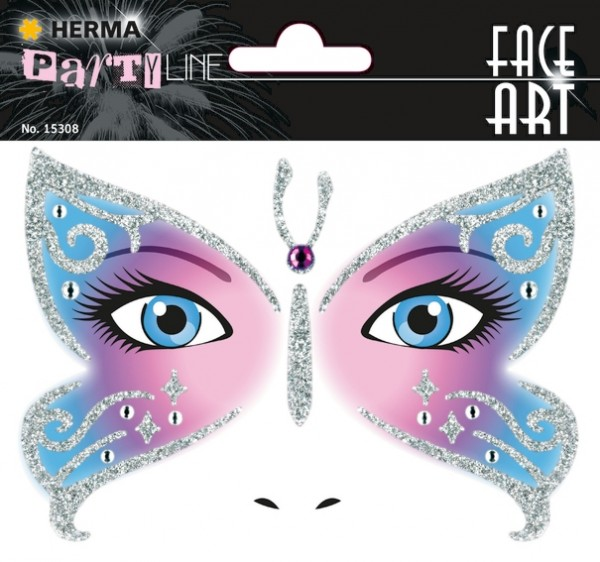 HERMA 15308 5x Face Art Sticker Butterfly