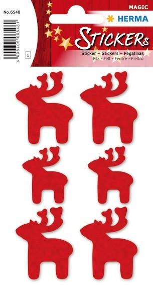 HERMA 6548 10x Sticker MAGIC Elche, Filz