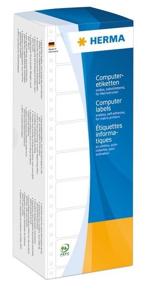 HERMA 8113 Computeretiketten 101,6x48,4 mm 1-bahnig weiß perfori