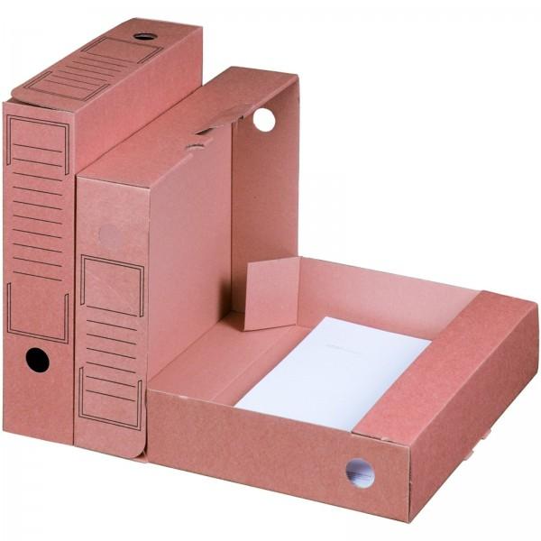 Archiv-Ablagebox 252 x 70 x 317 mm Braun