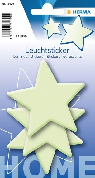HERMA 15020 5x Leuchtsticker Sterne