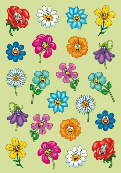 HERMA 6262 10x Sticker MAGIC Lustige Blumengesichter, Puffy