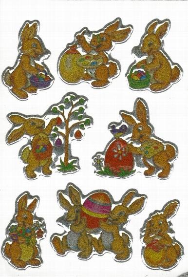 HERMA 6433 10x Sticker MAGIC Hasen, geprägt