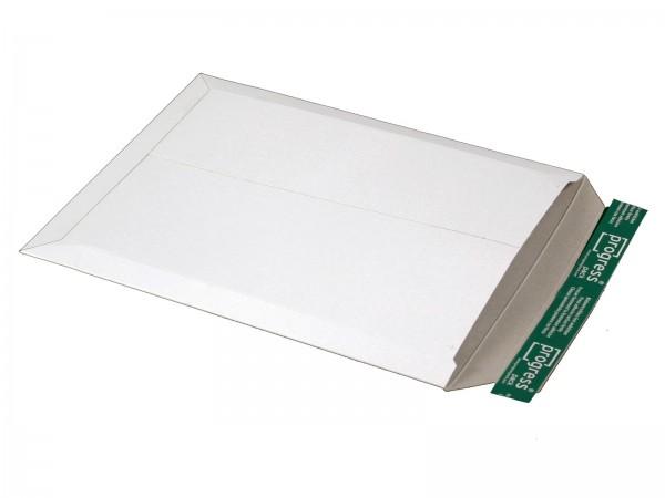 375 x 295 x -32 mm Versandtasche aus Vollpappe (weiß)