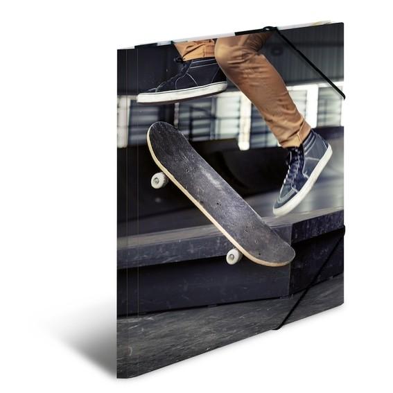 HERMA 19227 3x Sammelmappe A4 Karton Skateboard