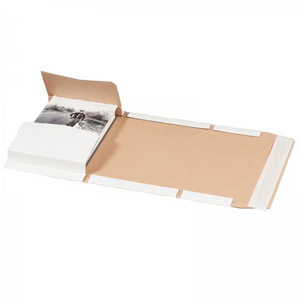 Buchversandverpackung 217 x 155 x 60 mm DIN A5 Weiß