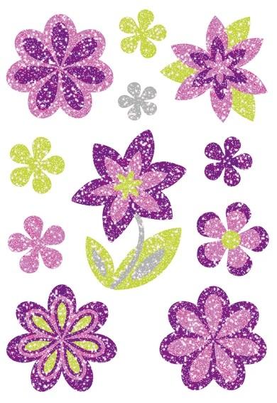 HERMA 6293 10x Sticker MAGIC Blumen Diamond glittery
