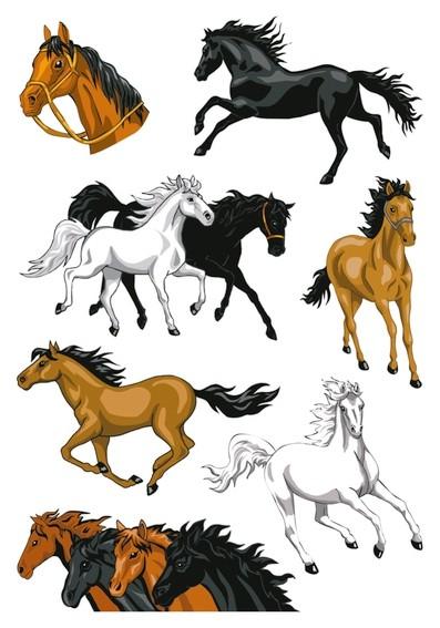 HERMA 3259 10x Sticker MAGIC Pferde, Stone glittery