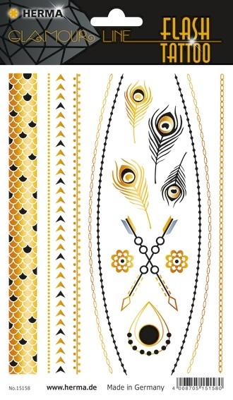 HERMA 15158 5x FLASH Tattoo Jewels