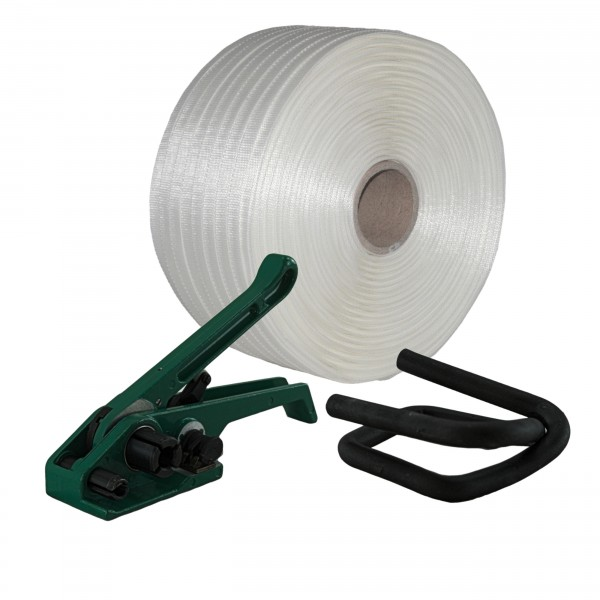 19 mm Textil gewebt Umreifung Set Umreifungsband Bandspanner Met