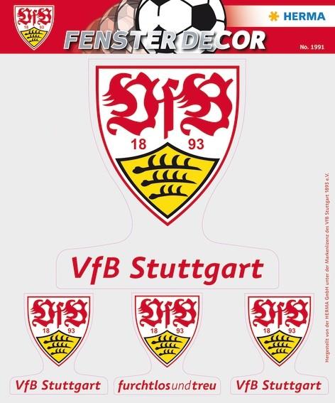 HERMA 1991 Fensterdecor VfB 25 x 35 cm, Logos
