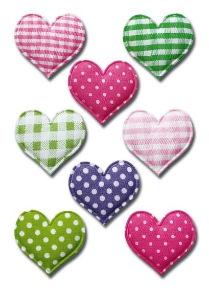 HERMA 6288 10x Sticker MAGIC Herzen, Stoff