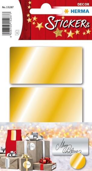 HERMA 15287 10x Goldetiketten 34 x 67 mm 9 St.