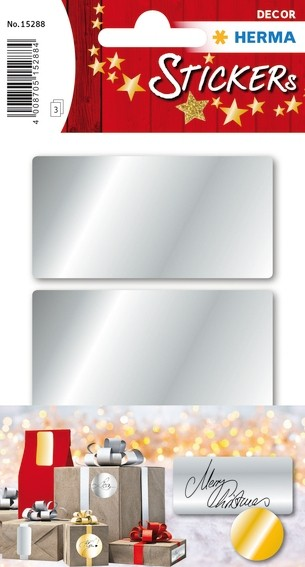 HERMA 15288 10x Silberetiketten 34 x 67 mm 9 St.