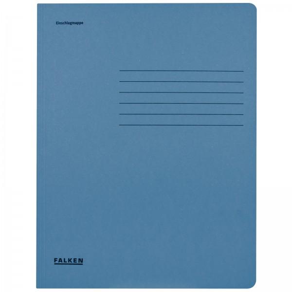 Einschlagmappe DIN A4 aus Manilakarton Blau