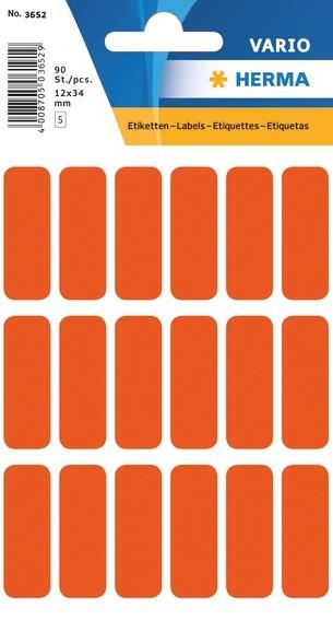 HERMA 3652 Vielzwecketiketten 12x34 mm rot Papier matt 900 St.