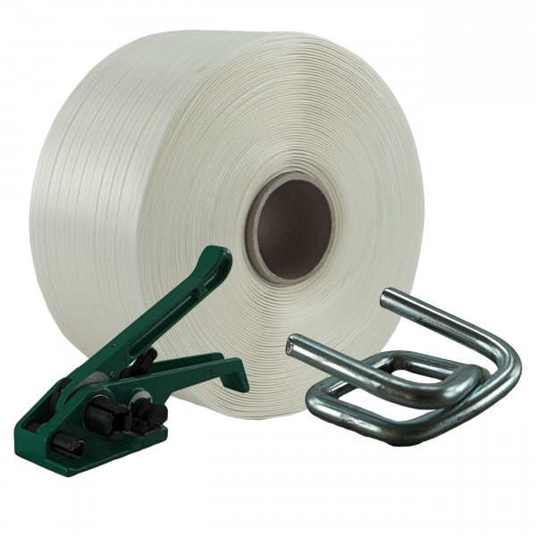 13 mm Textil Umreifung Set Umreifungsband Bandspanner Metallklem