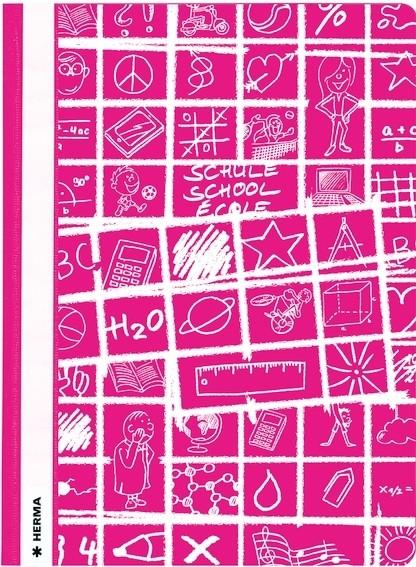 HERMA 19371 10x Schnellhefter A4 SCHOOLYDOO pink