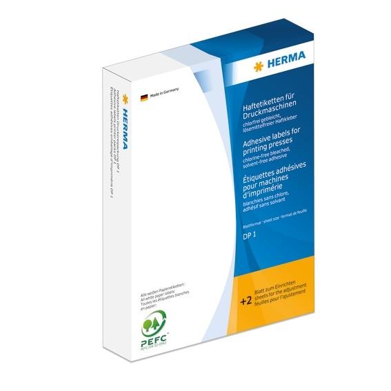 HERMA 3150 Haftetiketten für Druckmaschinen DP1 50x50 mm weiß Pa