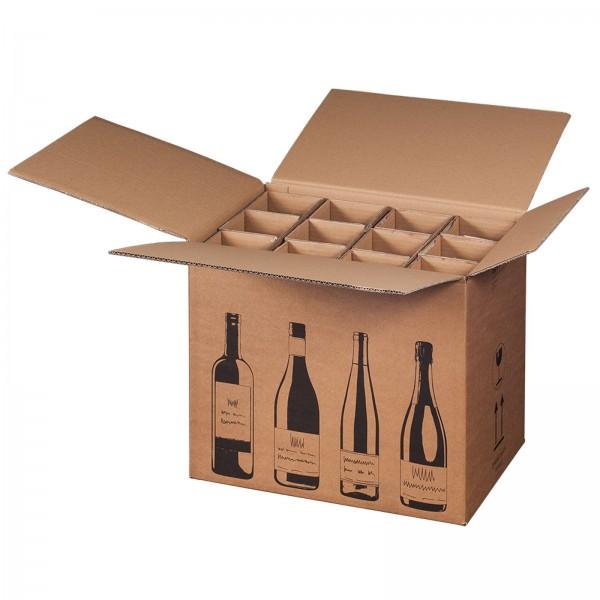 Flaschenkarton für 12 Flaschen mit PTZ-Zulassung (DHL/UPS), 420 x 305 x 368 mm