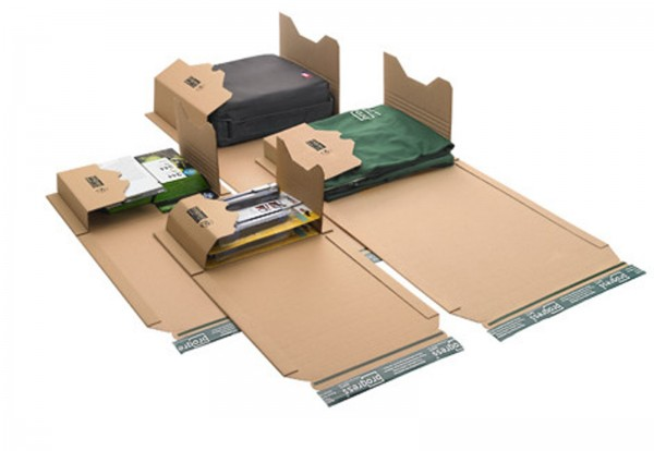 Buch-Versandverpackungen zum Wickeln DIN B5 274 x 191 x -80 mm
